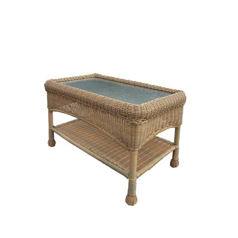 wicker patio coffee table hton bay belcourt metal rectangle outdoor coffee table 1522