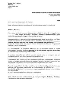 modele de lettre substitution compromis de vente lettre de r 233 clamation et de demande de remboursement pour