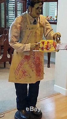 lifesize gemmy animated leatherface texas chainsaw