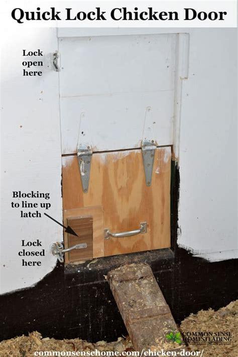 best automatic chicken door lock chicken door predator resistant easy latch