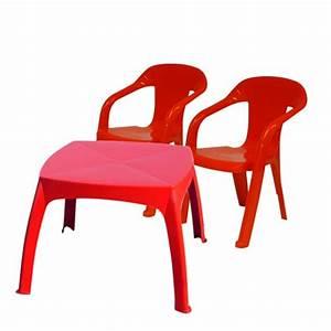 Salon De Jardin Pour Enfant : salon de jardin enfants baghera table chaises rouge ~ Dailycaller-alerts.com Idées de Décoration