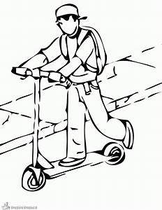 Lucky Scooter Emblem Coloring Page Printable Coloring Pages