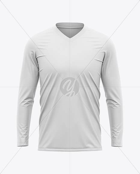Young fan woman full body scanned 3d model. Download Mens V Neck Soccer Jersey Mockup Front View ...
