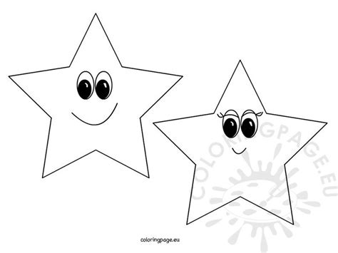 smiling stars coloring page