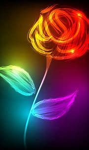 Set of neon with flowers vector graphic Free vector in ...