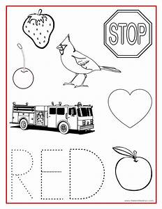 Red Coloring Pages Printable - Coloring Home