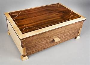 Handmade Elegant Jewelry Box by E N Curtis Woodworks