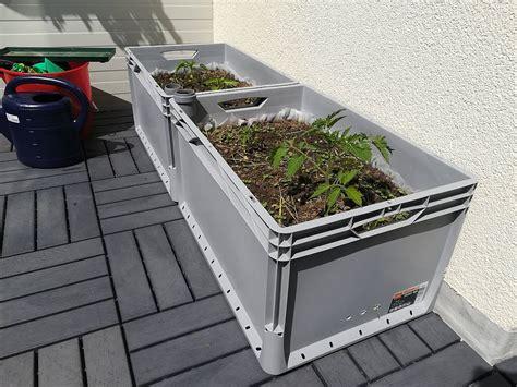 automatische bewässerung gewächshaus selber bauen blumentopf wasserspeicher selber bauen blumenkasten selber bauen pflanzkasten selber bauen