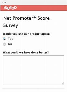 online form template wufoo With net promoter score survey template
