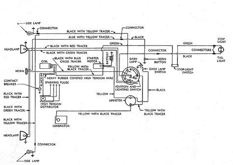 Ford Model A 12 Volt Wiring Diagram by 126 Wiring Diagram Model Y Small Ford Spares