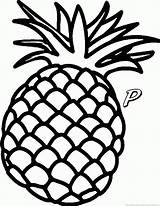 Pineapple Fruit sketch template