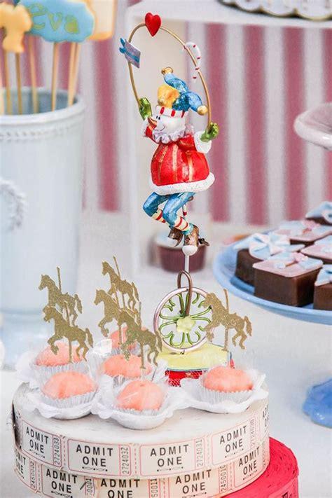 kara 39 s party ideas royal carousel themed birthday circus big top cupcakes book covers