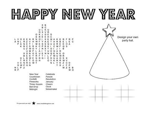 New Year's Activity Sheet  Creativities Galore