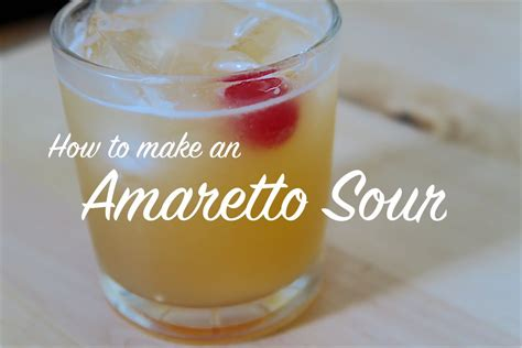 how is sour made how to make an amaretto sour cocktail youtube