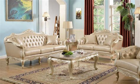 Living Room Settee Furniture by Taj Traditional Sofa In Antique White Bonded Leather W Options
