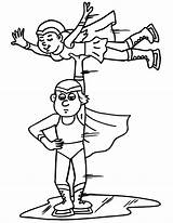 Coloring Skating Ice Pages Figure Clipart Skates Lift Cliparts Skater Library Clip Guy Superheroes Dressed Team Pairs Popular sketch template