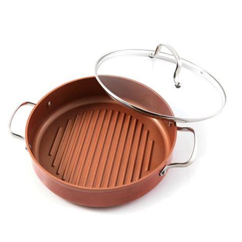 nuwave copper duralon   grill pan  lid walmartcom walmartcom