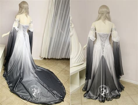 Silver Shadow Elven Gown (back View) By Firefly-path On