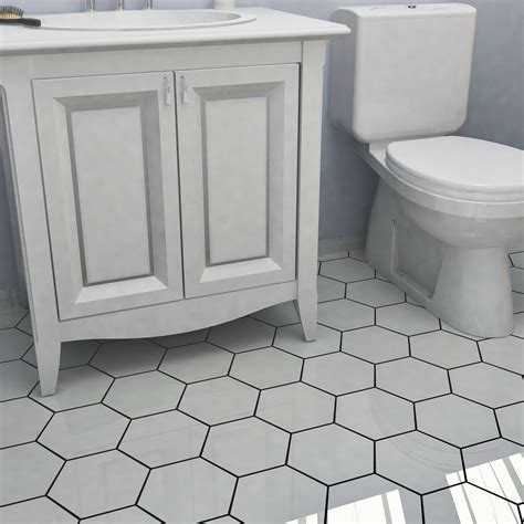 hexagonal bathroom tile update your living spaces with these sleek white hexagonal tiles these tiles are suitable for