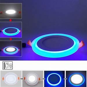 Led Deckenleuchte Einbau : ultraslim led panel einbaustrahler deckenleuchte einbau lampe 85 265v dual farbe ebay ~ Buech-reservation.com Haus und Dekorationen