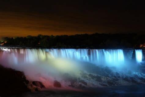niagara falls  night american falls photo
