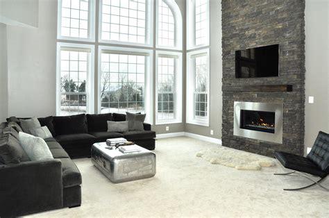 modern living room with fireplace modern fireplace renovation