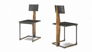 Chaise Industrielle Metal : chaises bois metal design table de lit ~ Teatrodelosmanantiales.com Idées de Décoration