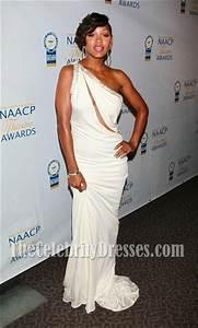 Rihanna Chart History Meagan Good White Evening Dress Naacp Theater Awards