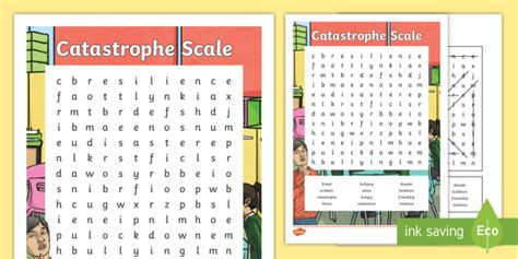 * New * Catastrophe Scale Word Search  Resilience, Problem