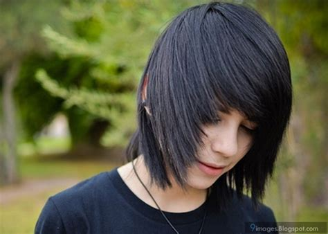 emo adorable guy hairstyle  beautiful cute pics