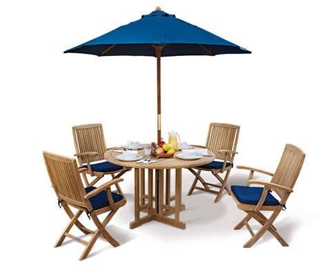 berrington gateleg teak dining set 4 folding