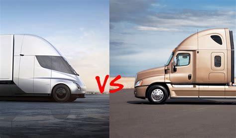 Tesla Semi Vs. Diesel Semi Trucks