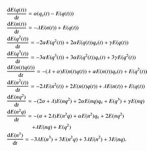Derivation of stochastic differential equations for ...