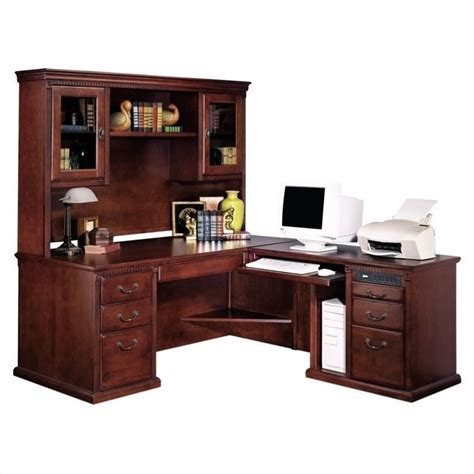 l shaped executive desk with hutch kathy ireland home by martin huntington club rhf l shaped