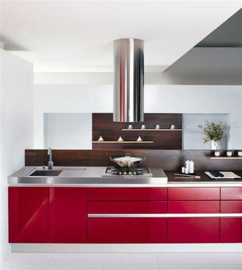Light Red Kitchen Decorating Ideas  Sample Designs And