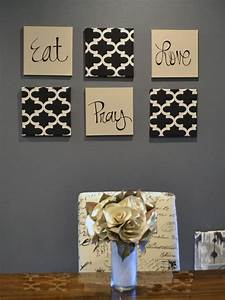 Eat pray love wall art pack of canvas hangings hand