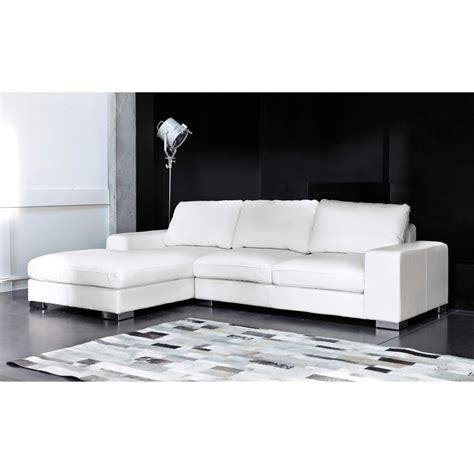 Un Divano A New York - divano ad angolo sinistro bianco in pelle 5 posti new york