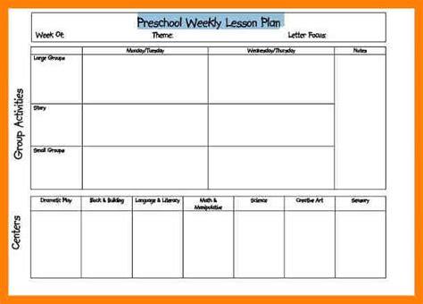 Preschool Lesson Plan Template Common Core - Kindergarten lesson plan template common core