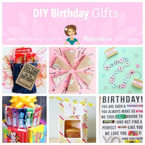easy handmade birthday gift 15 easy diy birthday gifts tip junkie 15