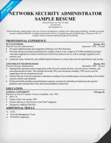 Exle Resume Of Network Administrator by Resume Data Networks Expert