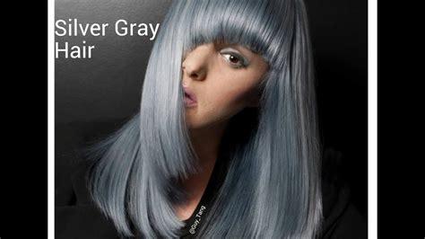 Granny Hair Silver Slate Gray Make Over Youtube