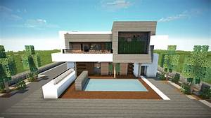 Minecraft: How To Build A Modern House 1.8.7 /Best Modern ...