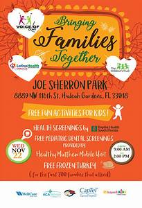 Volunteer Signup Form Bringing Families Together Day At The Park The