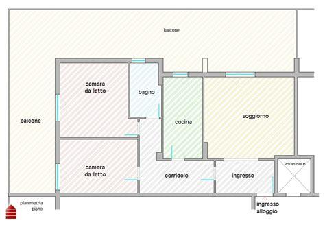 rettangolare planimetria casa  mq
