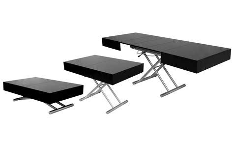 bureau modulable deco in table basse relevable extensible noir