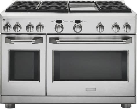 ge monogram zgpndrss   stainless steel gas freestanding range  sealed burner