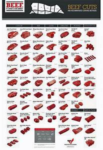 Meat Cutting Chart  Beef Cuts Cutting Chart Poster  Color