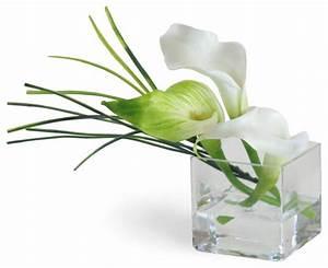 Mini Calla Lily White Flower Arrangement - Traditional