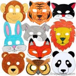printable animal masks craft 39 crafts firstpalette