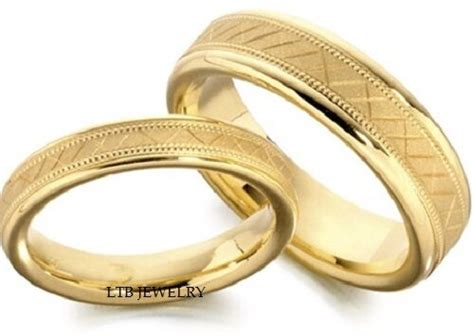 18k yellow gold matching wedding bands his hers mens womens rings ebay